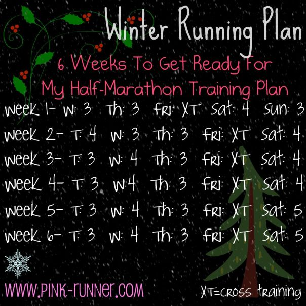 Winter Running Plan