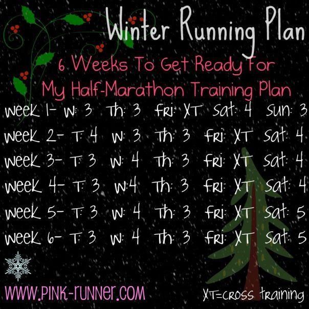 Winter Running Plan